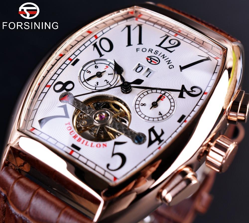 Pria Watch Tourbillon Rose Gold Mens Watches Top Brand Luxury Otomatis  Watch Montre Homme Jam Jam 21823d6c72