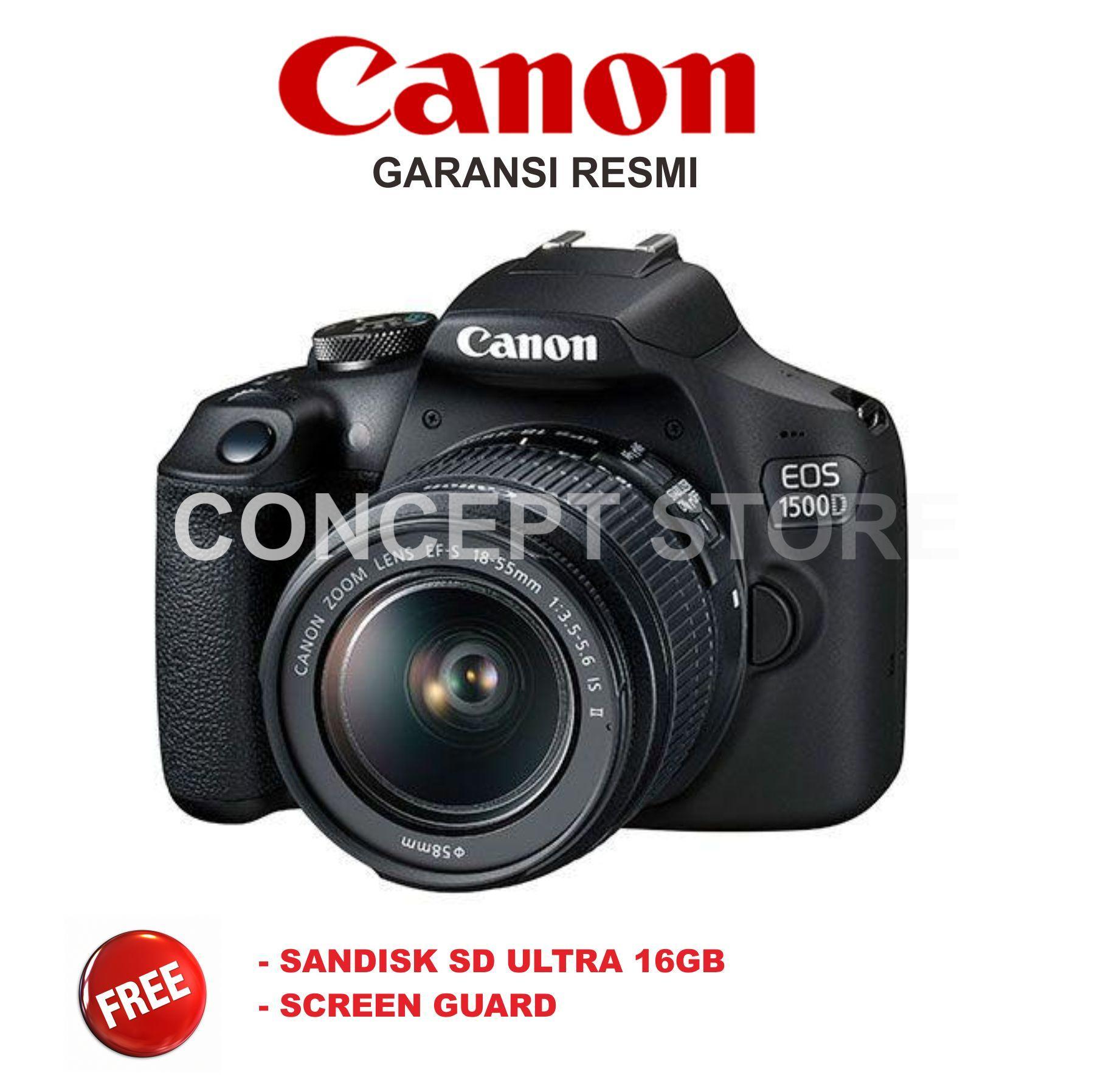 Canon EOS 1500D Kit 18 55 IS II Kamera DSLR