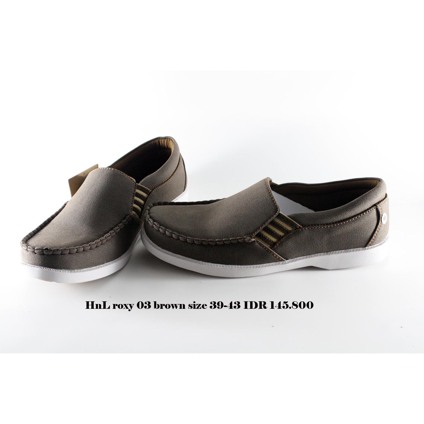 hnl roxy 03 sepatu kets pria coklat