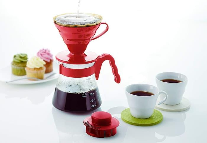 Hario V60 Pour Over Kit Red VCSD-02-R - 2 ...