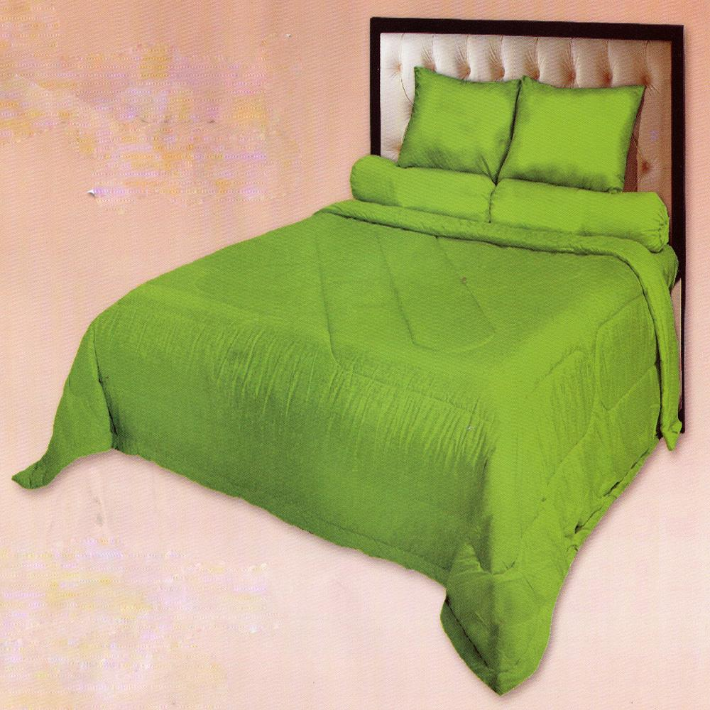 Fata Sprei Polos Jacquard Emboss Single 120x200 cm Warna Lemon Green
