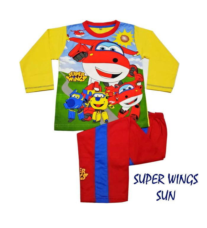 SUPER WINGS SUN Setelan Baju rumah/piyama AnakCowok Produk Anne Claire