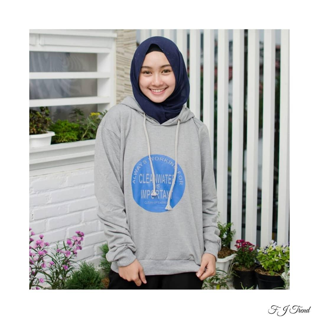 CLEAN WATER HOODIE ||| nouska shop ||| jaket sweater baju atasan blouse