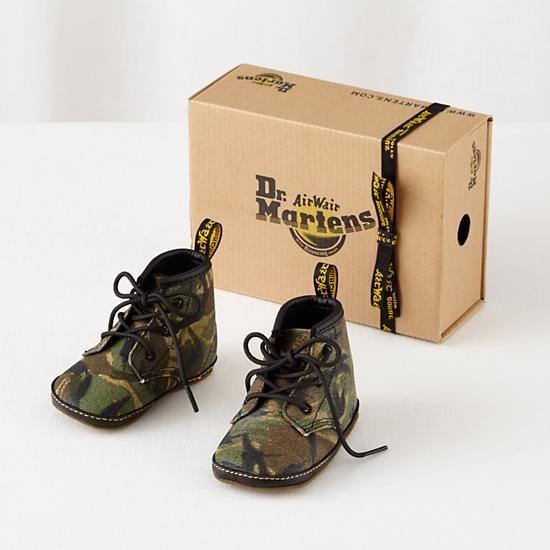 Sepatu Bayi Dr. Marten Hijau Army Size 1 100% Original