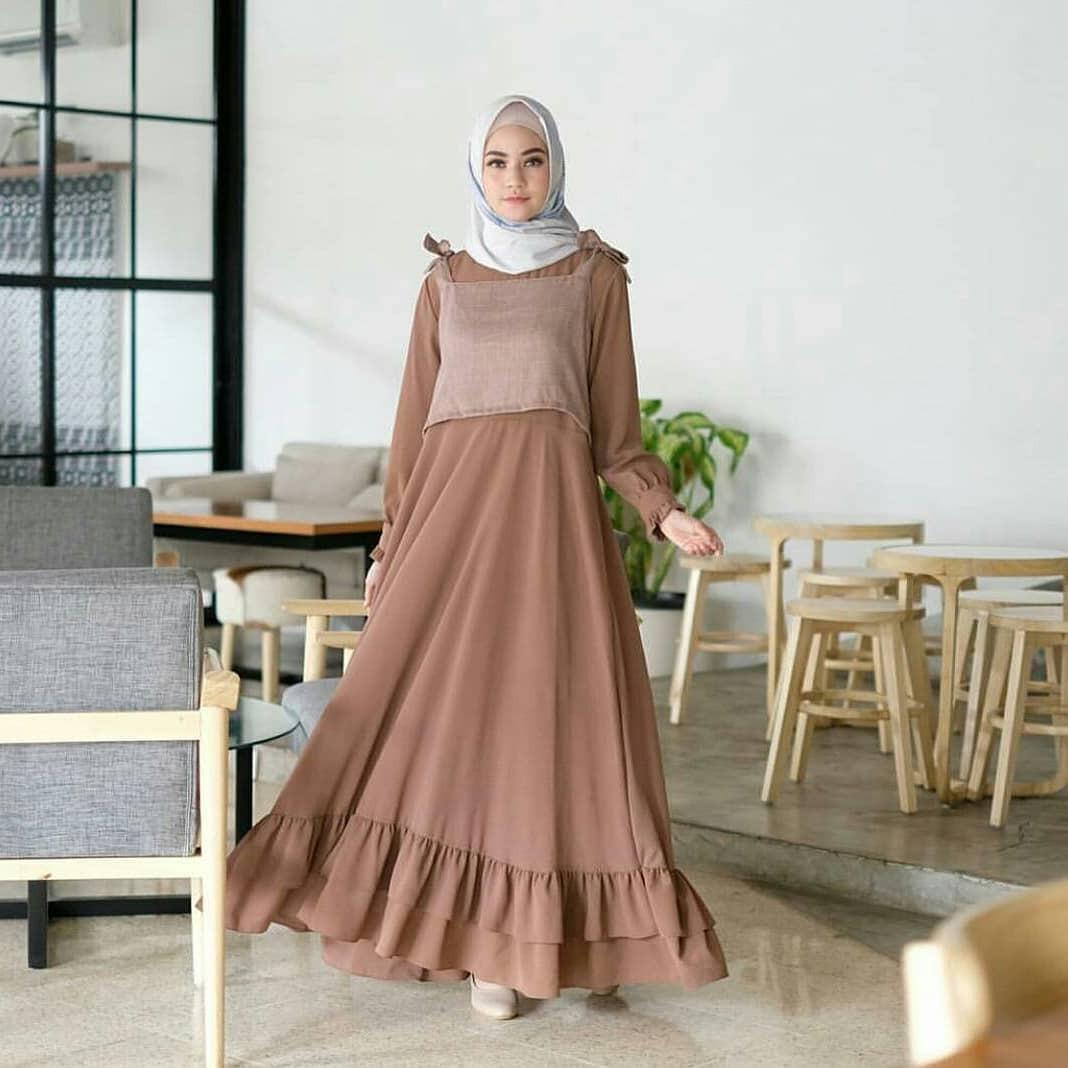 Baju Origina Nasya Maxy Dress Panjang Balotelly Hijab Casual Pakaian Muslim Wanita Muslim Modern Terbaru Termurah 2018