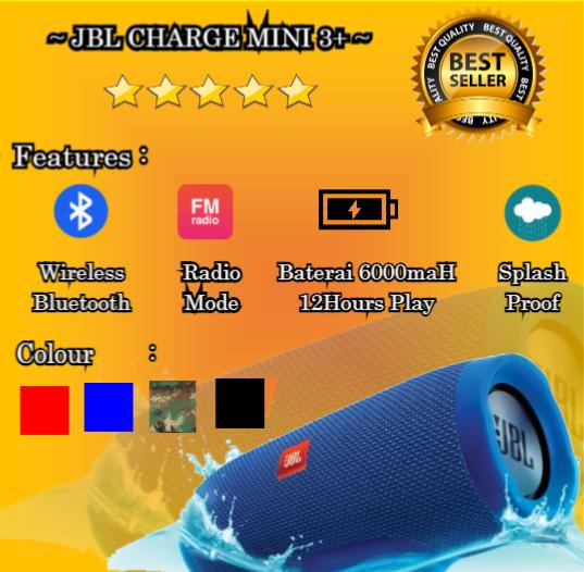 ... Speaker Bluetooth JBL CHARGE Mini 3+ SPEAKER JBL CHARGE MINI 3+ Speaker Radio Bluetooth