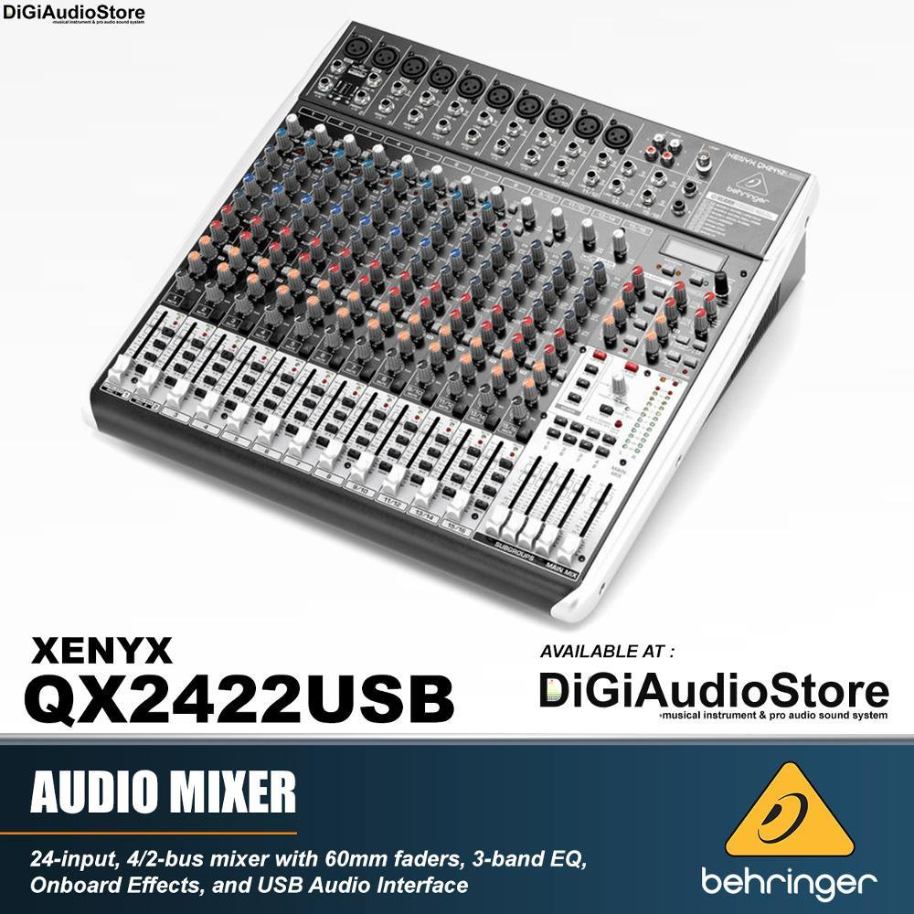 Behringer QX2442USB - QX 2442 USB AUDIO Mixer 24 channel with USB Soundcard for recording and efek vocal