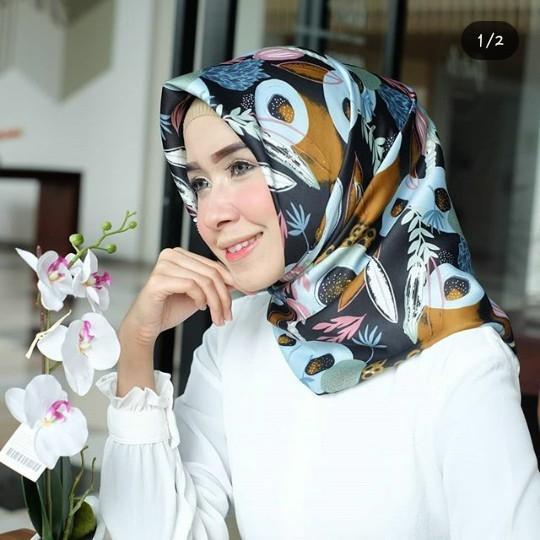 Kobuca Store Hijab Maxmara Bunga Daun  - Hijab kekinian hijab model jaman sekarang hiajb adem