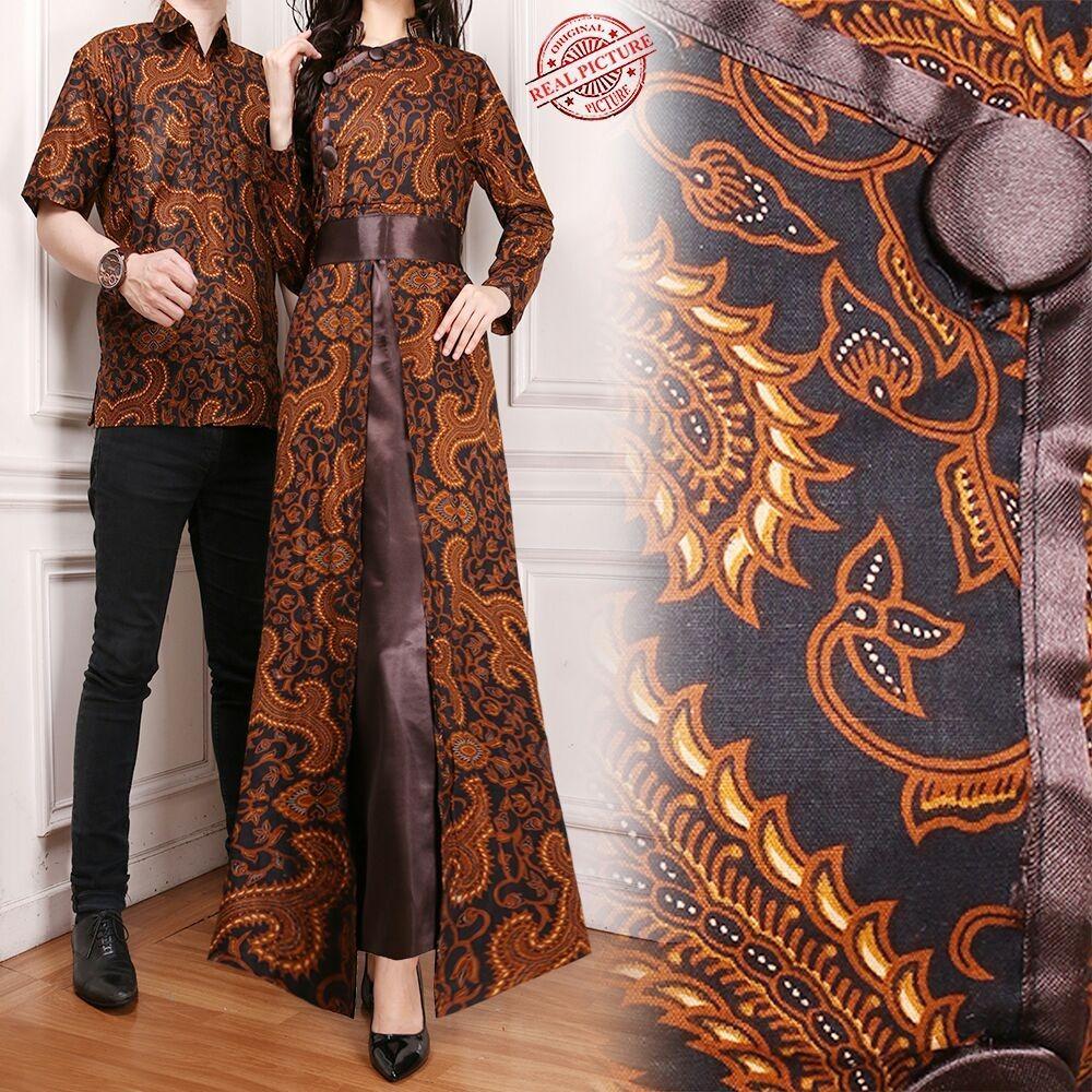 Harga Hemat Sb Collection Couple Gamis Besty Longdress Dan Kemeja Batik Pria