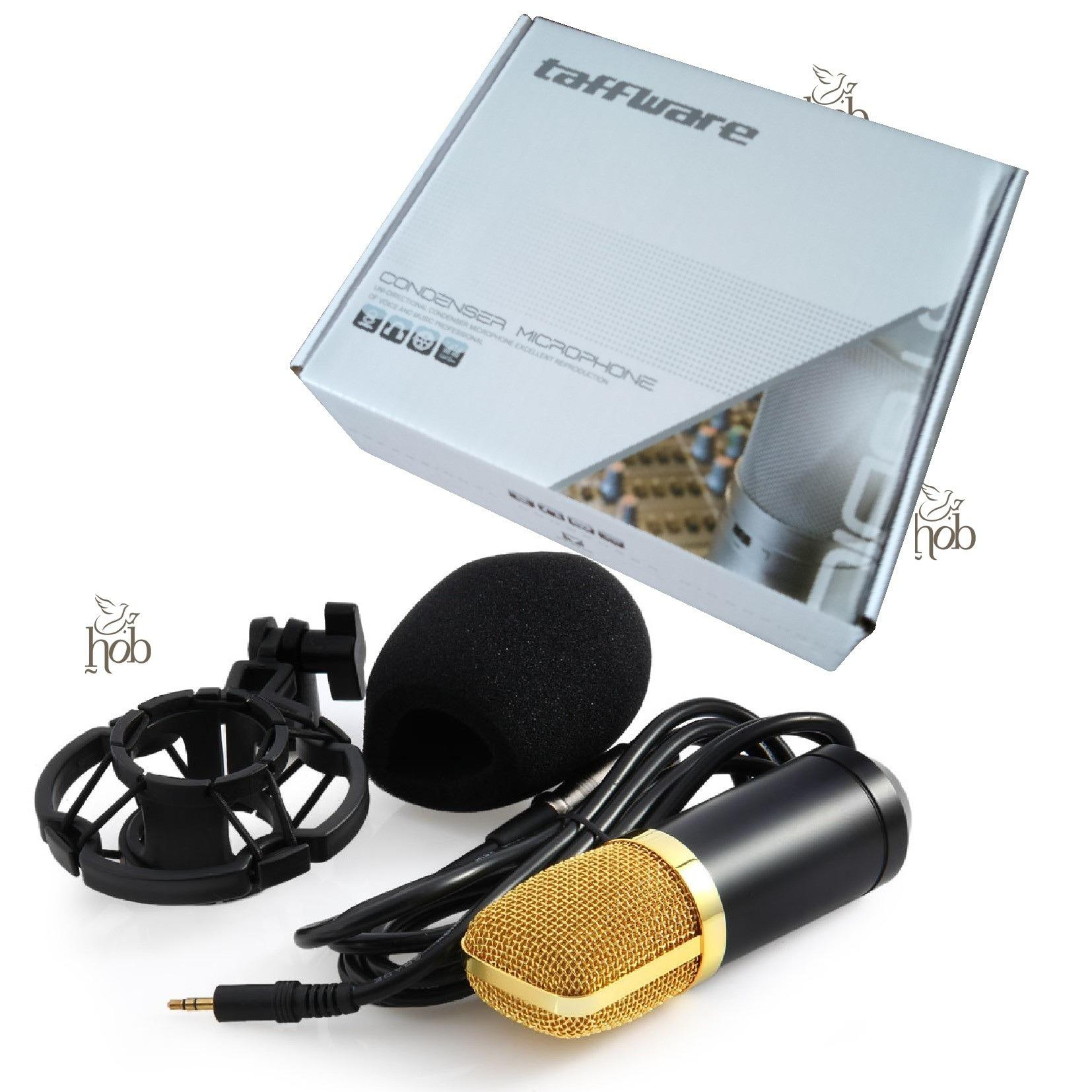 Jual Bm 700 Microphone Mic With Shock Proof Mount Condenser Studio Gold Grosir