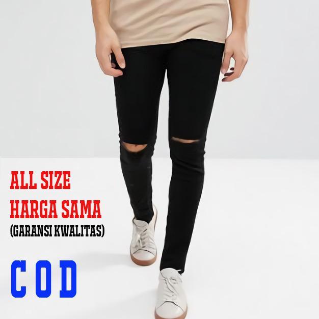 All Size Harga Sama / Celana Jeans Pria Sobek / Jeans Sobek Pria / Jeans Pria