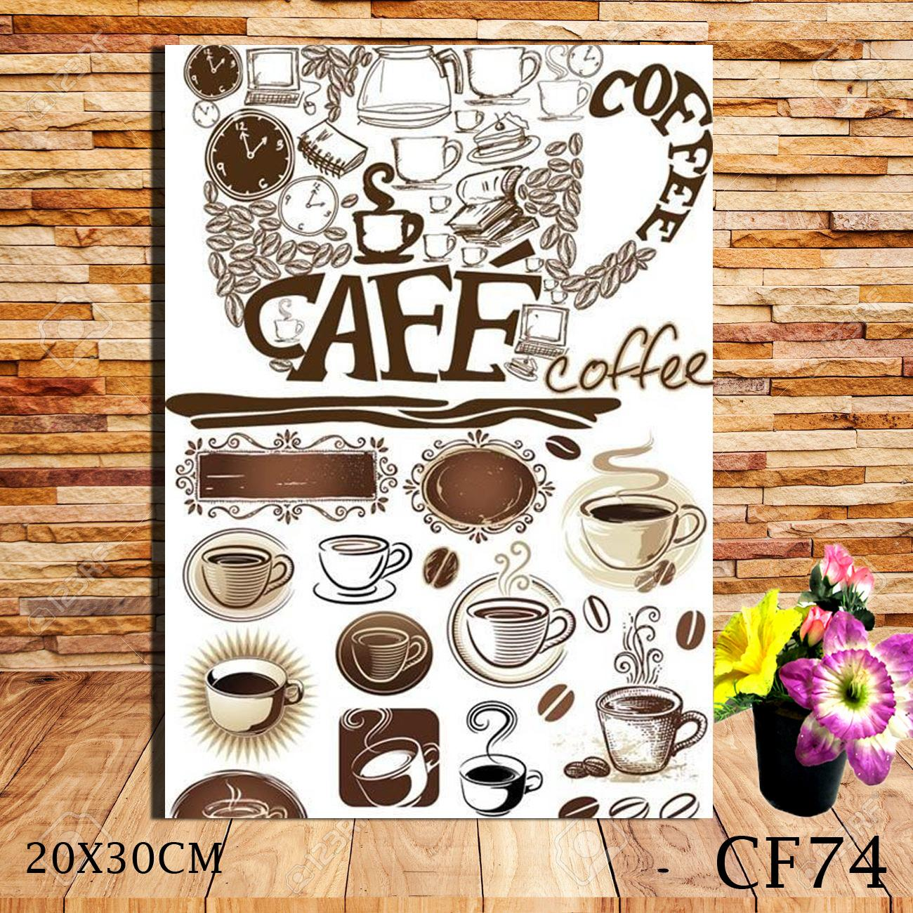 HIASAN DINDING POSTER KAYU WALL DECOR CAFE COFFEE VINTAGE