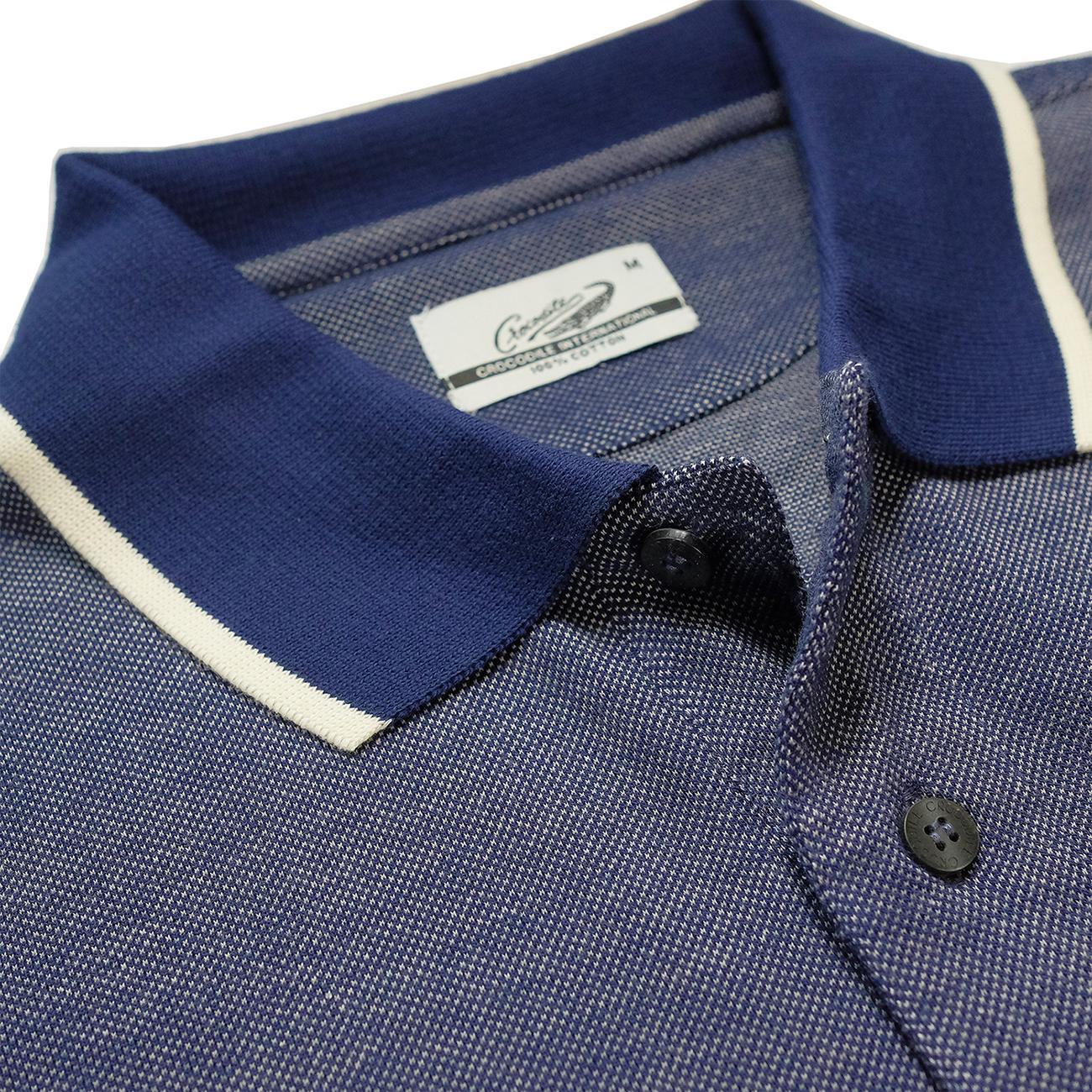 Fitur Code Royal Baju Pria Crocodile Men Polo Shirt Slim Fit Bahan Clas Ori Katun Dark Navy S