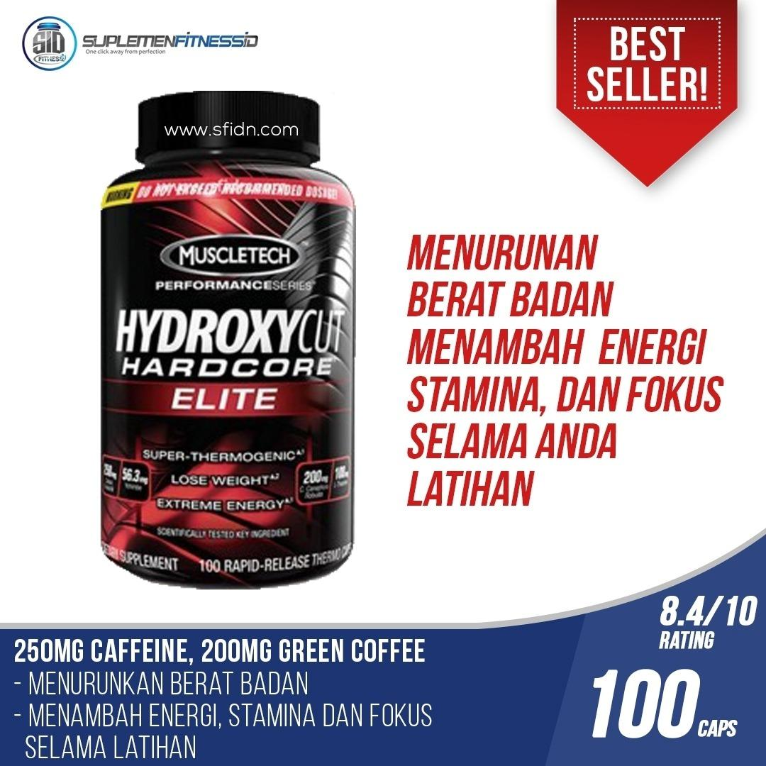 Jual New Muscletech Hydroxycut Elite 100 Kapsul Satu Set