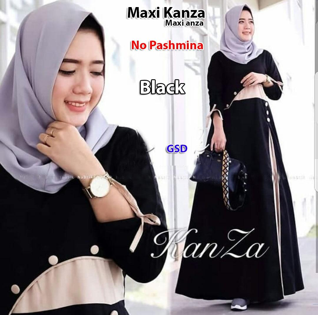 GSD - Baju Gamis Syari / Baju Muslim / Baju Kurung / Dress Muslim / Maxi Dress Anza