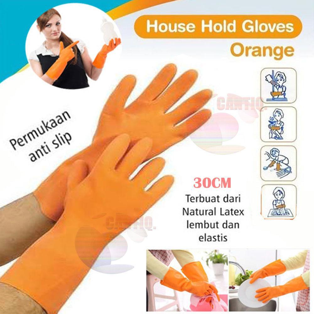 Icantiq Latex Glove Sarung Tangan Karet Pendek / Sarung tangan karet cuci piring anti air Rubber