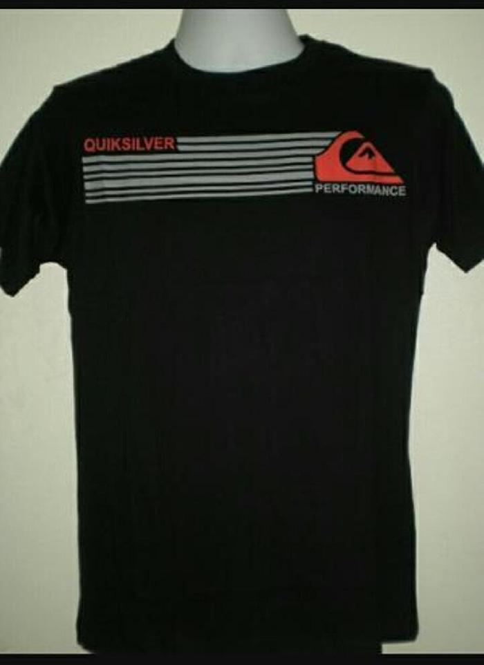 Kaos Tshirt * Quiksilver Hitam  Murah Limited