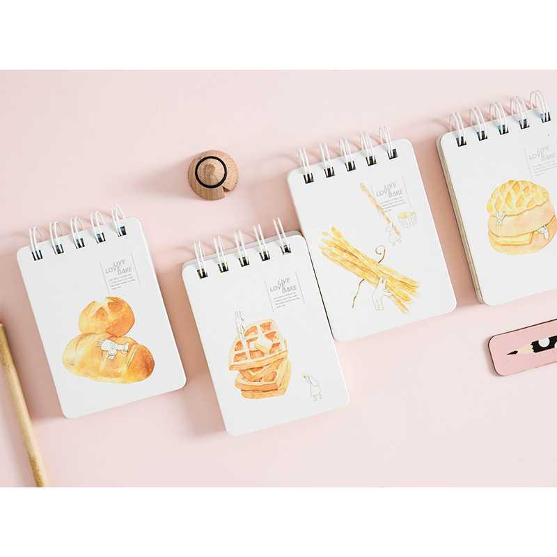 BEST SELLER Play with Bread Spiral Ruled Notepad A7 / Buku Catatan Spiral Garis HARGA TERMURAH