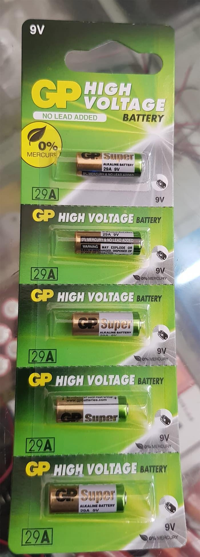 Baterai GP 29A 9v remote mobil / battery