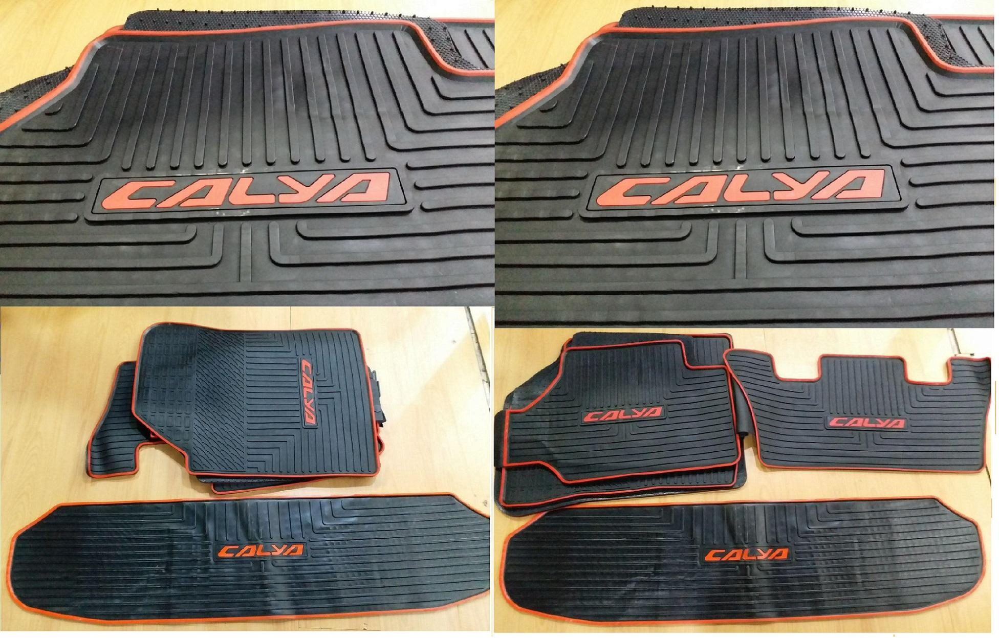 OTOAKSESORIS2000 Karpet Karet - Car Carpet Black Lining Mobil Calya (IMPORT PRODUCT)