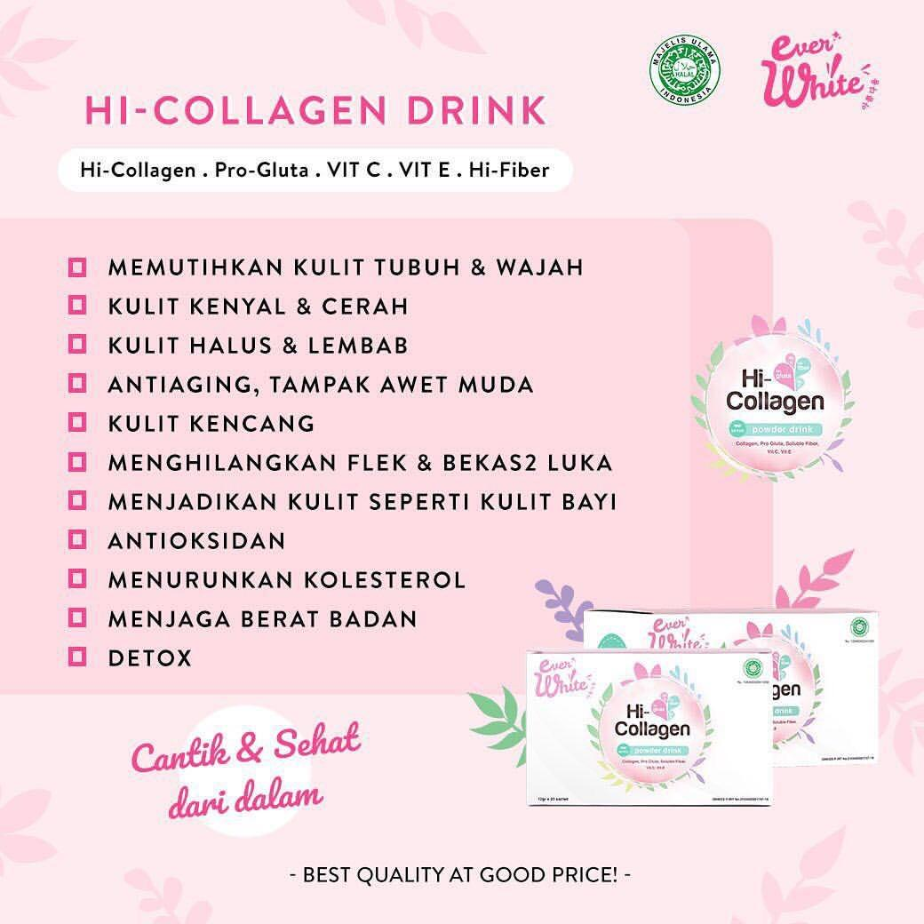 Features Everwhite Hi Collagen Powder Drink Minuman Kolagen By Ever Sachet Ertos Soybean Atau Serbuk Detail Gambar White Terbaru