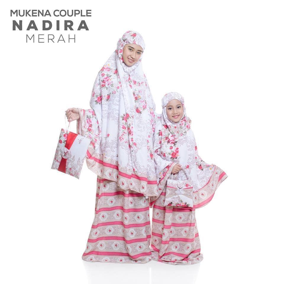 Best seller - MUKENA COUPLE BALI NADIRA TAS PESTA MERAH (IBU ANAK)baju muslim wanita / baju muslimah / baju muslim wamita terbaru / baju muslim murah TERBARU!!