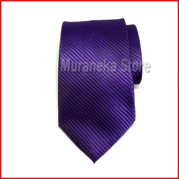 Dasi IMPORT Pria Ungu Panjang Formal Lebar 3 Inch Purple Motif Violet Garis Salur Kerja kantor 7, 8 cm polos Warna Setelan Wedding Wisuda Pernikahan Bridesmaid Pesta Pengantin MC Seragam Panitia Kemeja Suspender