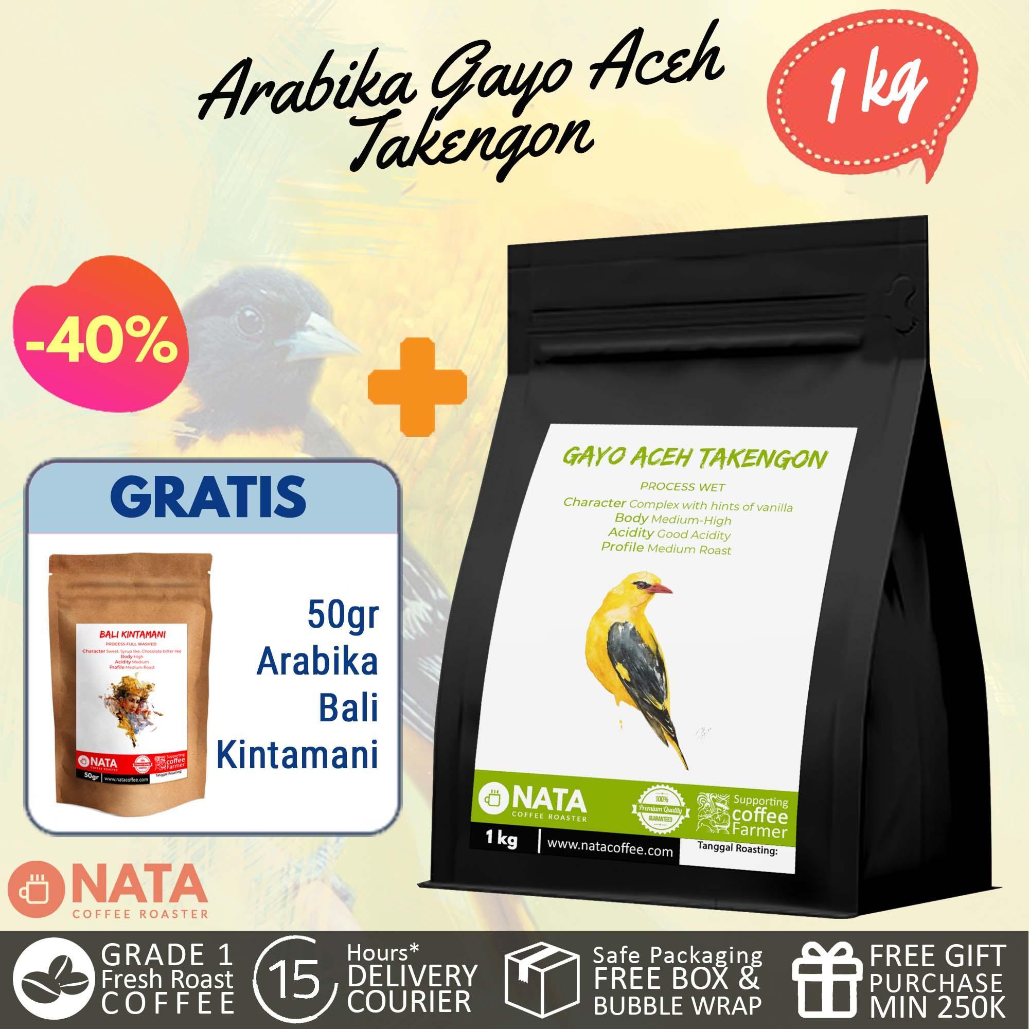 Fitur Nata Kopi Aceh Gayo Takengon Arabika Biji Dan Bubuk 1kg Natural Process 500 Gram Halus 4