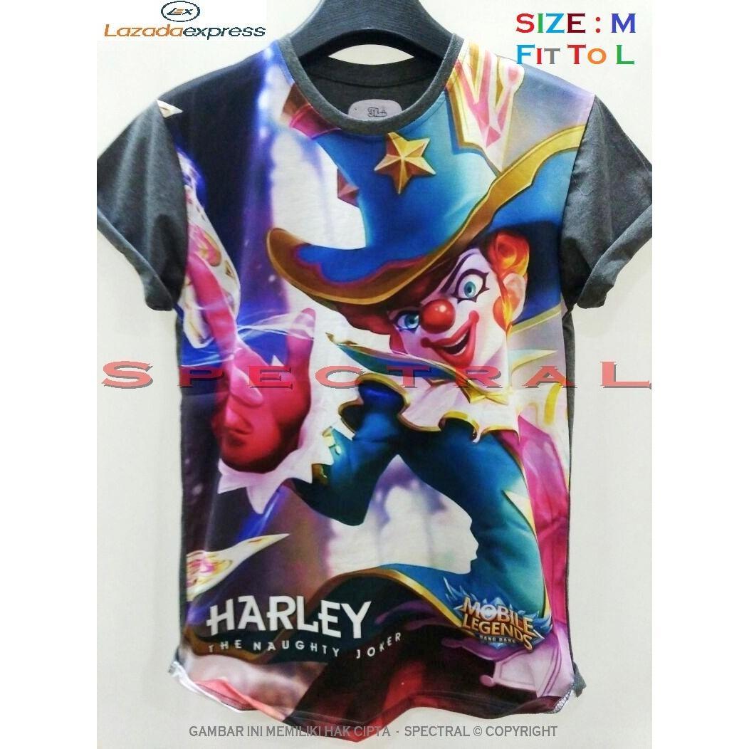 Spectral – 3D HARLEY Mobile Legend HD Printing Size M Fit To L Soft Rayon Viscose Kaos Distro Fashion T-Shirt Atasan Baju Pakaian Polos Pria Wanita Cewe Cowo  Lengan Murah Bagus Keren Jaman Kekinian Jakarta Bandung Gambar Kartun Mobilelegends legends