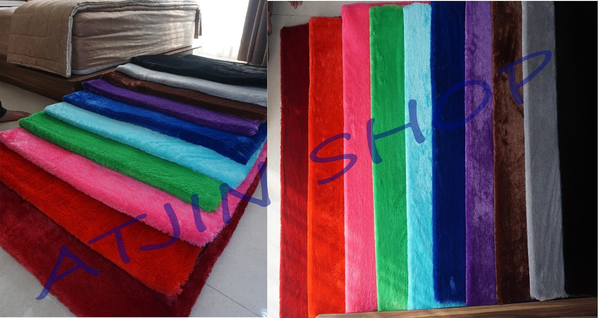 Detail Gambar Karpet Bulu Rasfur Busa UNGU Berkualitas 150x95Cm [UNGU] Terbaru