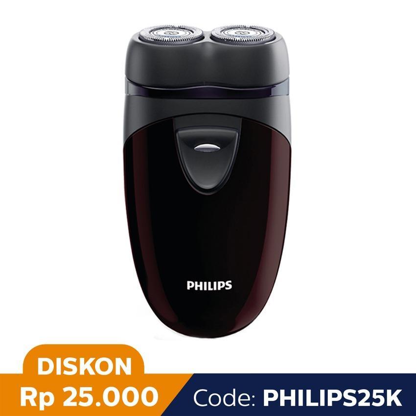 Toko Philips Shaver Pq206 Hitam Maroon Online