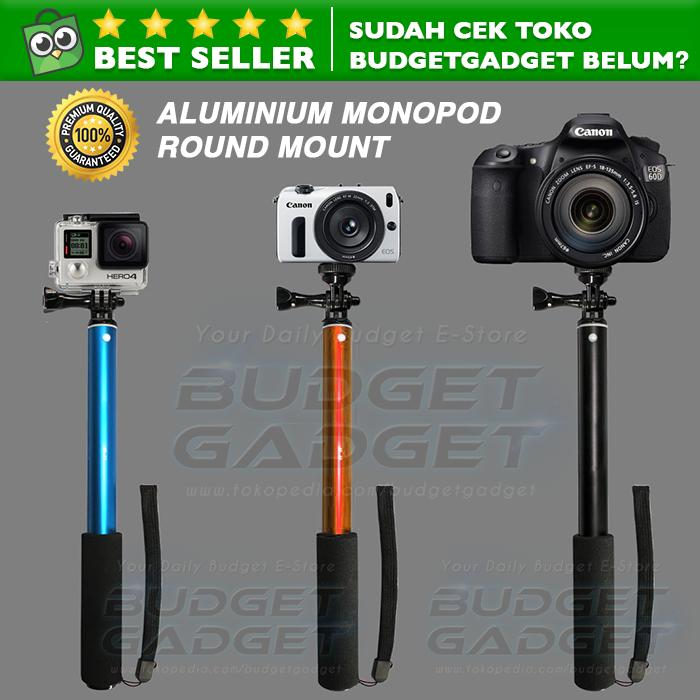 Tongsis Monopod Round Mount for Action Camera GoPro / Xiaomi Yi / Smartphone