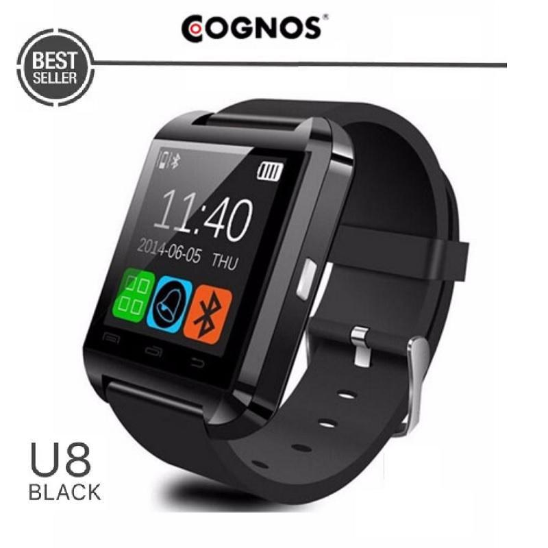 Cognos Watch U8 Smartwatch Original - TERMASUK BOX - Hitam