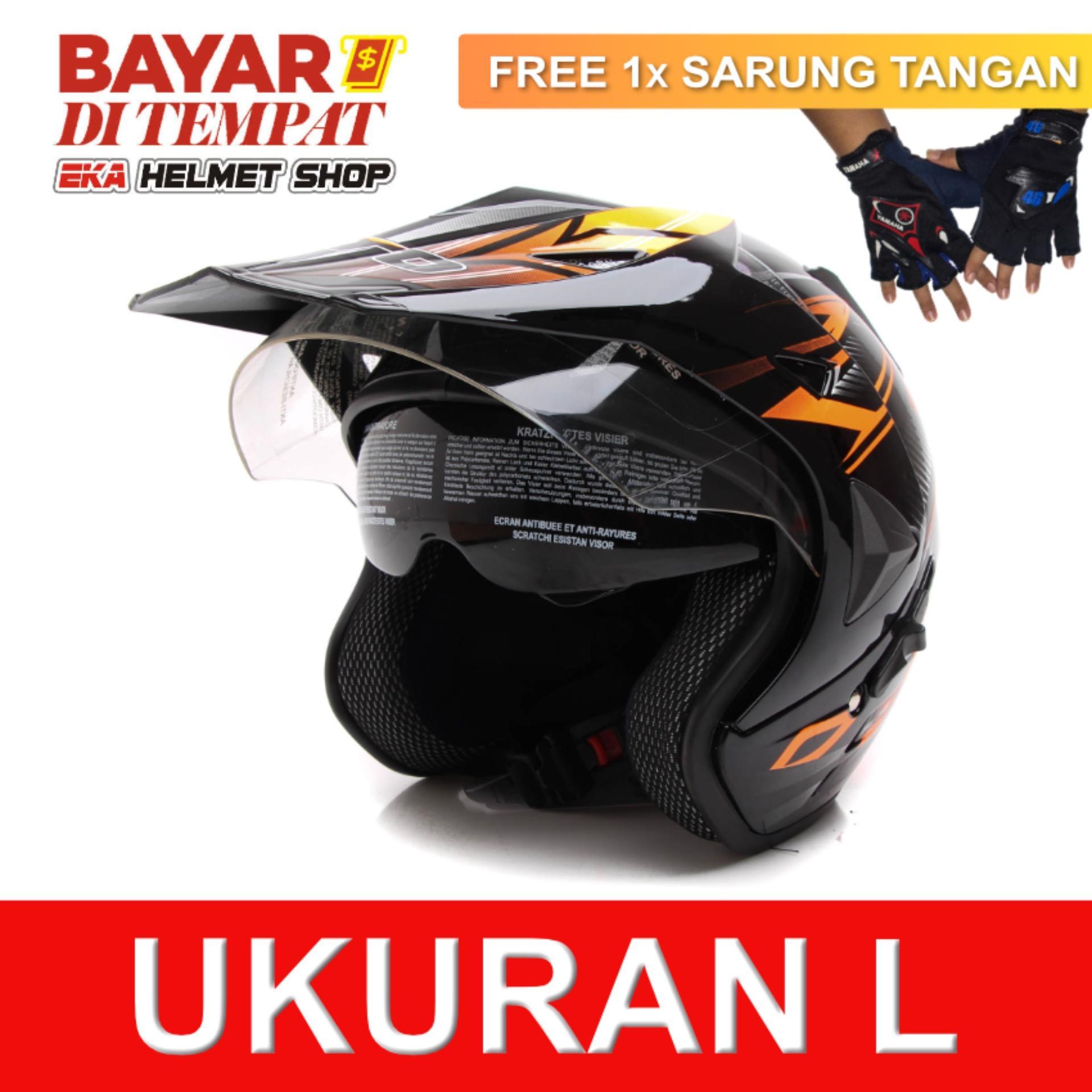 Toko Wto Helmet Pro Sight Cross Hitam Oren Promo Gratis Sarung Tangan Termurah Di Banten
