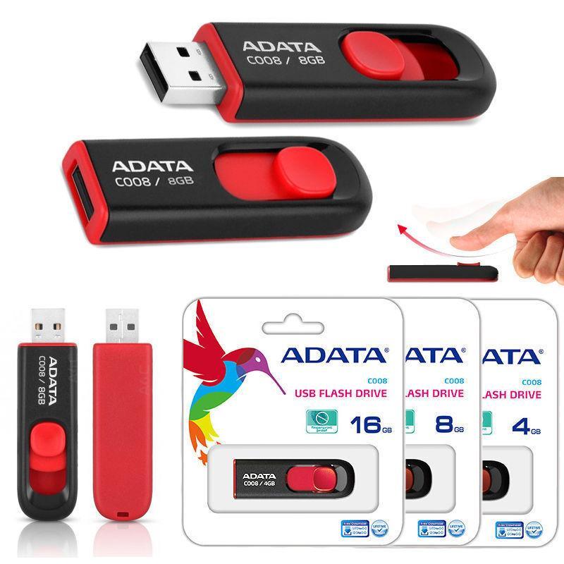 Harga Adata Flash Disk Sliding C008 8Gb Hitam Original