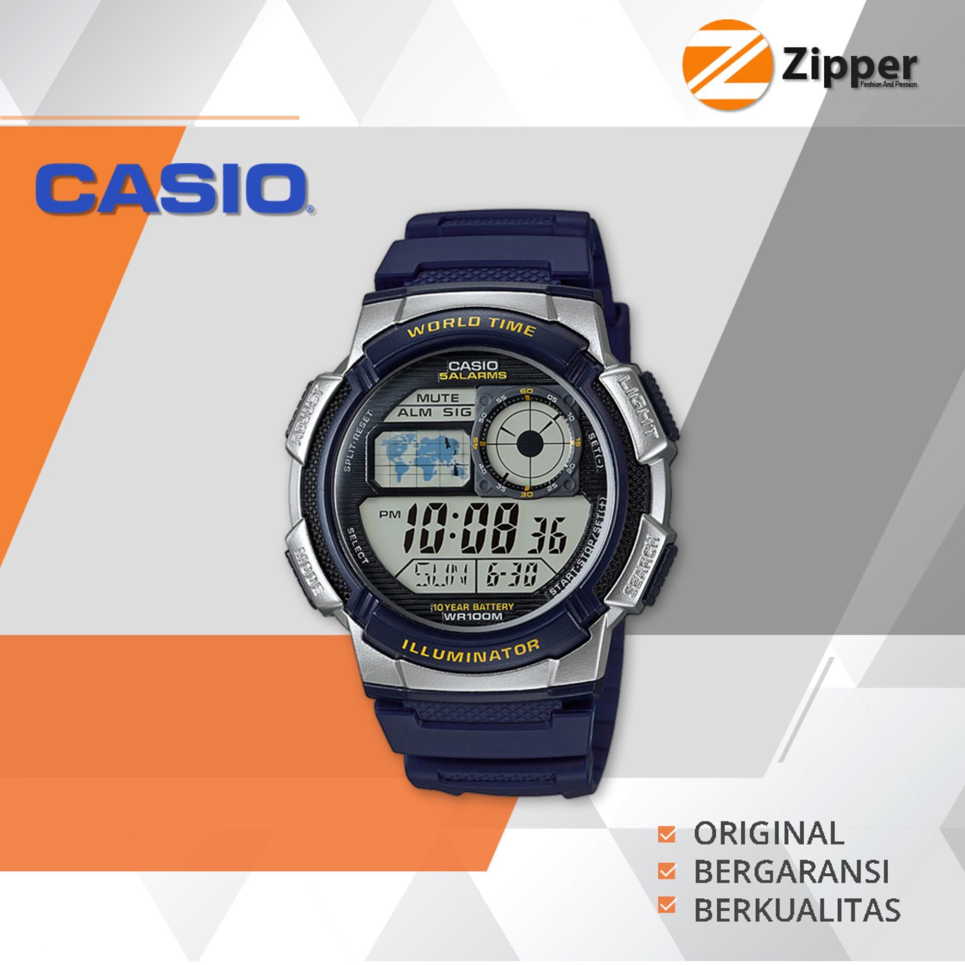 Beli Casio Illuminator Jam Tangan Digital Ae 1000W 2Avdf Youth Series Tali Karet Seken