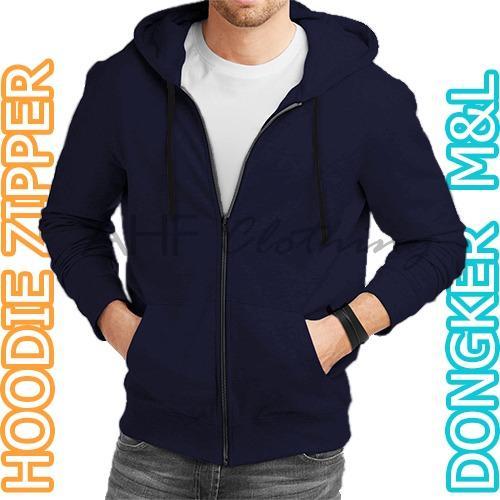 Jual Ahf Jaket Sweater Hoodie Zipper Polos Biru Tua Online