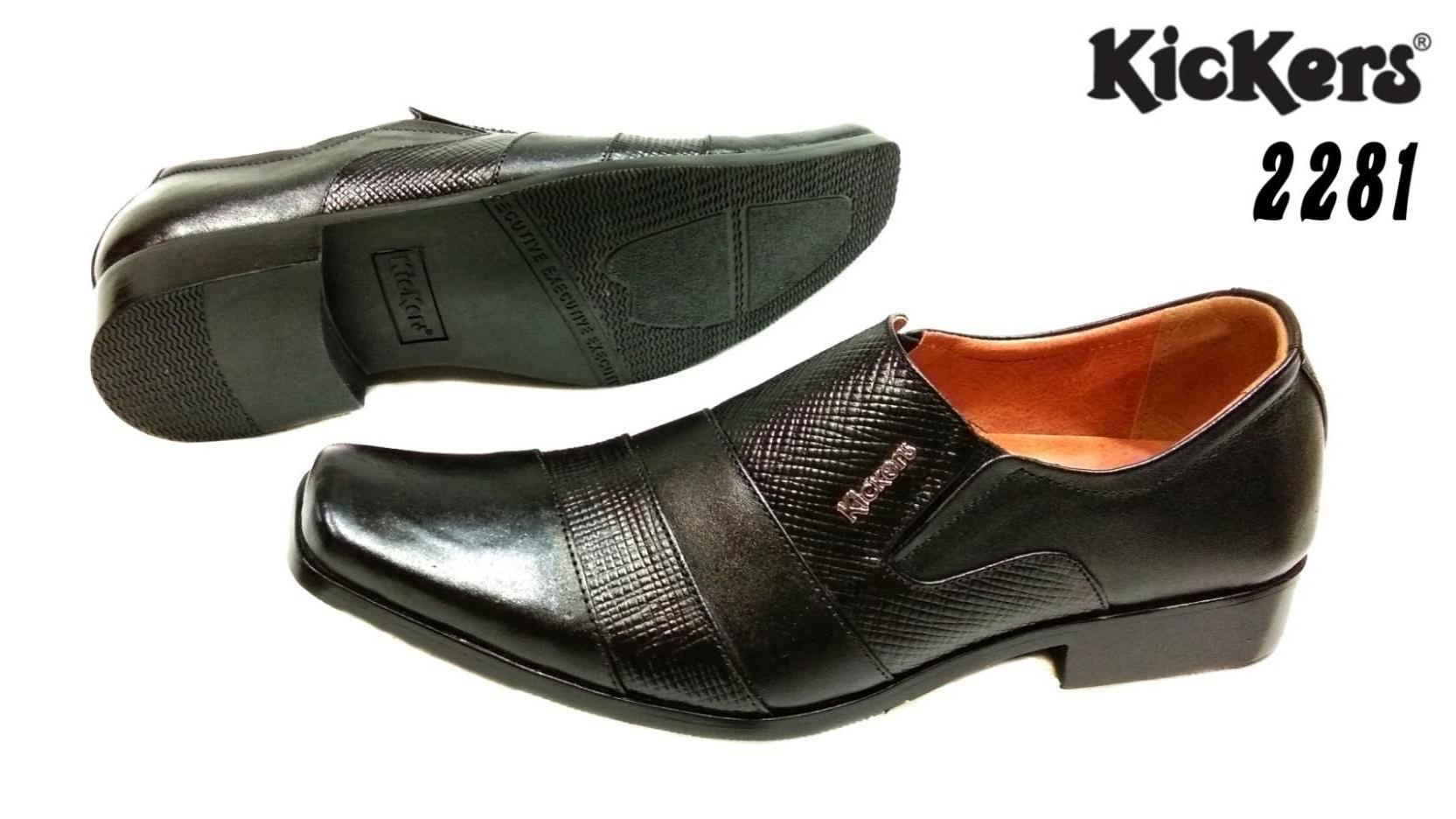 Sepatu Pantofel kickers 2281 Kulit Sapi Asli sepatu kantor sepatu Kerja Pantopel pria