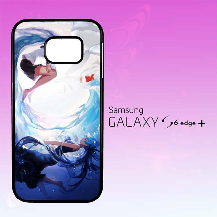 Casing Untuk Samsung Galaxy S6 Edge Plus Hatsune Miku Aqua ART Y2094