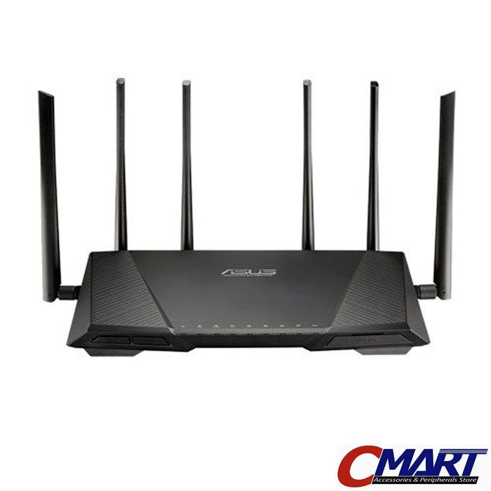 ASUS RT-AC3200 : Tri Band WiFi Wireless AC3200 Gigabit Router Extender