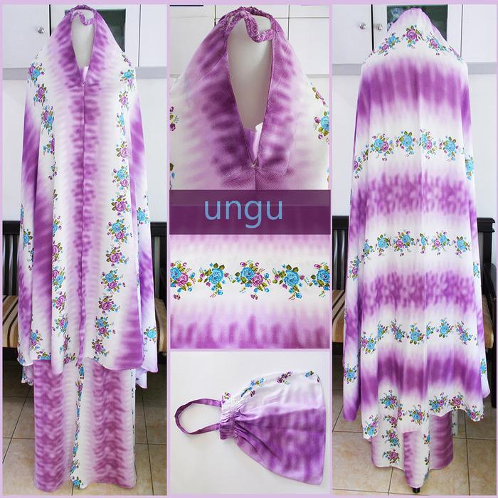 Rukuh/ Mukena Bali bunga gradasi warna ungu G-960 (IG:windyshops_online) Alat Sholat IFC