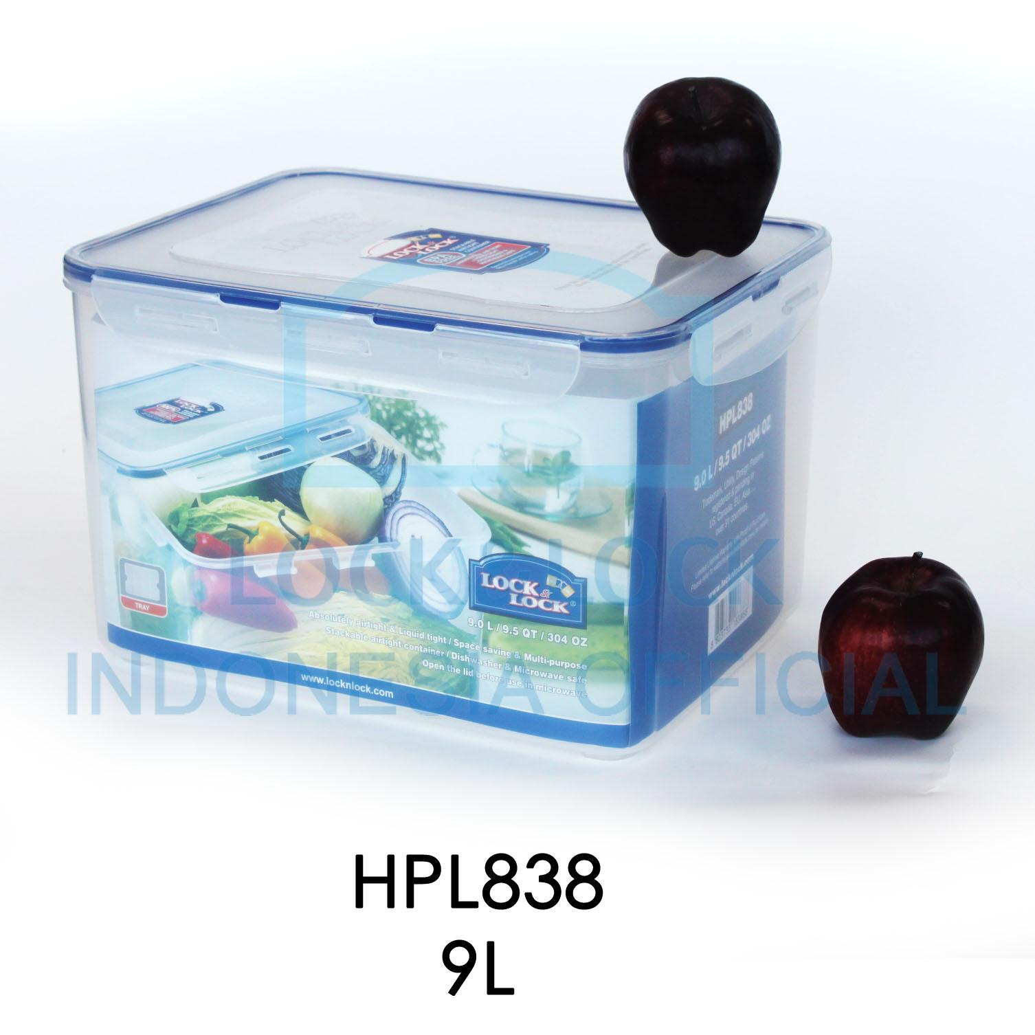 Locklock Food Container Hpl812h Rectangular Tall 15l Hpl808h 12l Detail Gambar Tempat Penyimpanan Makanan Serbaguna Hpl838 90l With