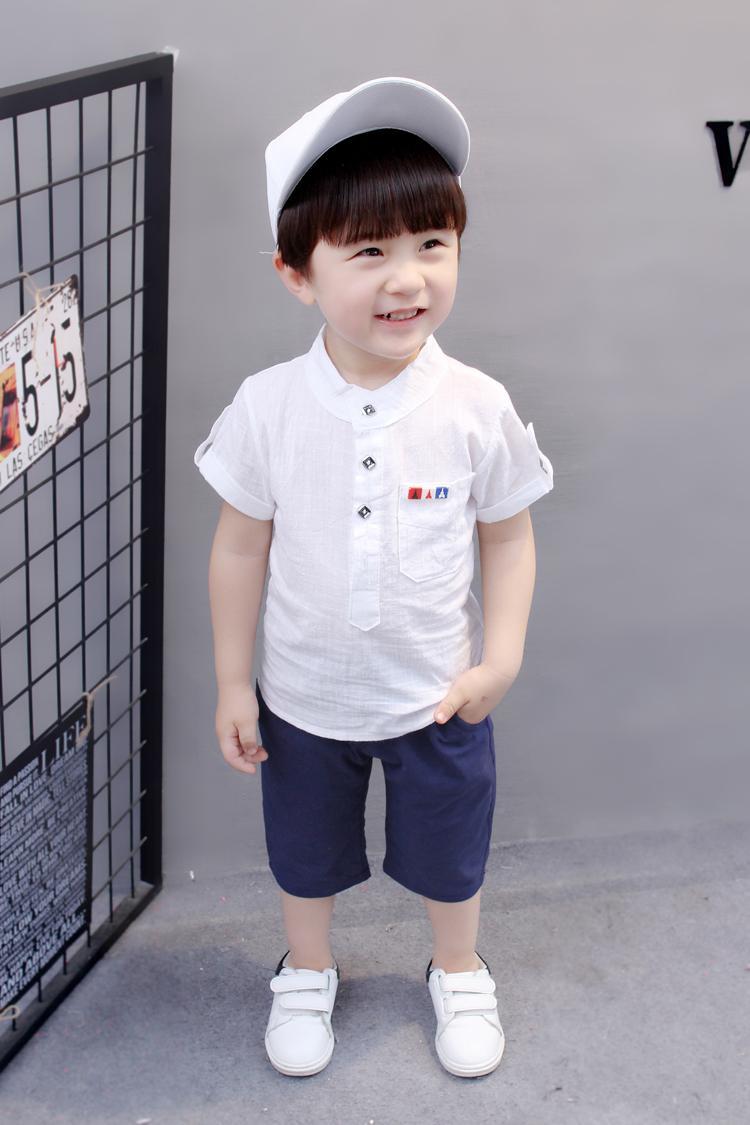 Korea Fashion Style Anak Laki-laki Baru Tahun Busana Anak-anak (Y225 Biru