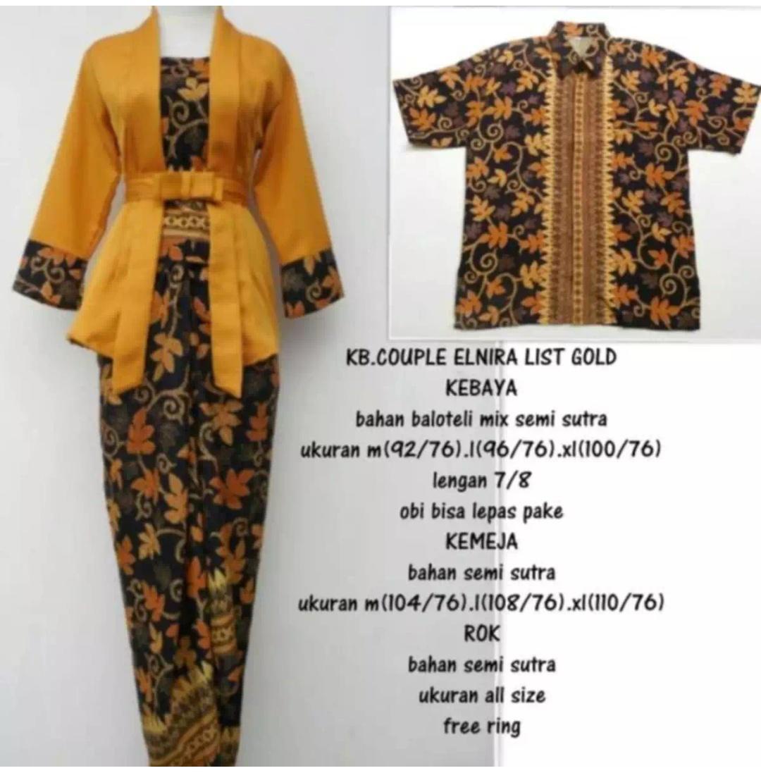 Setelan pakaian couple batik kebaya wanita kebaya tradisional  Kebaya modern   kebaya couple f756a90133