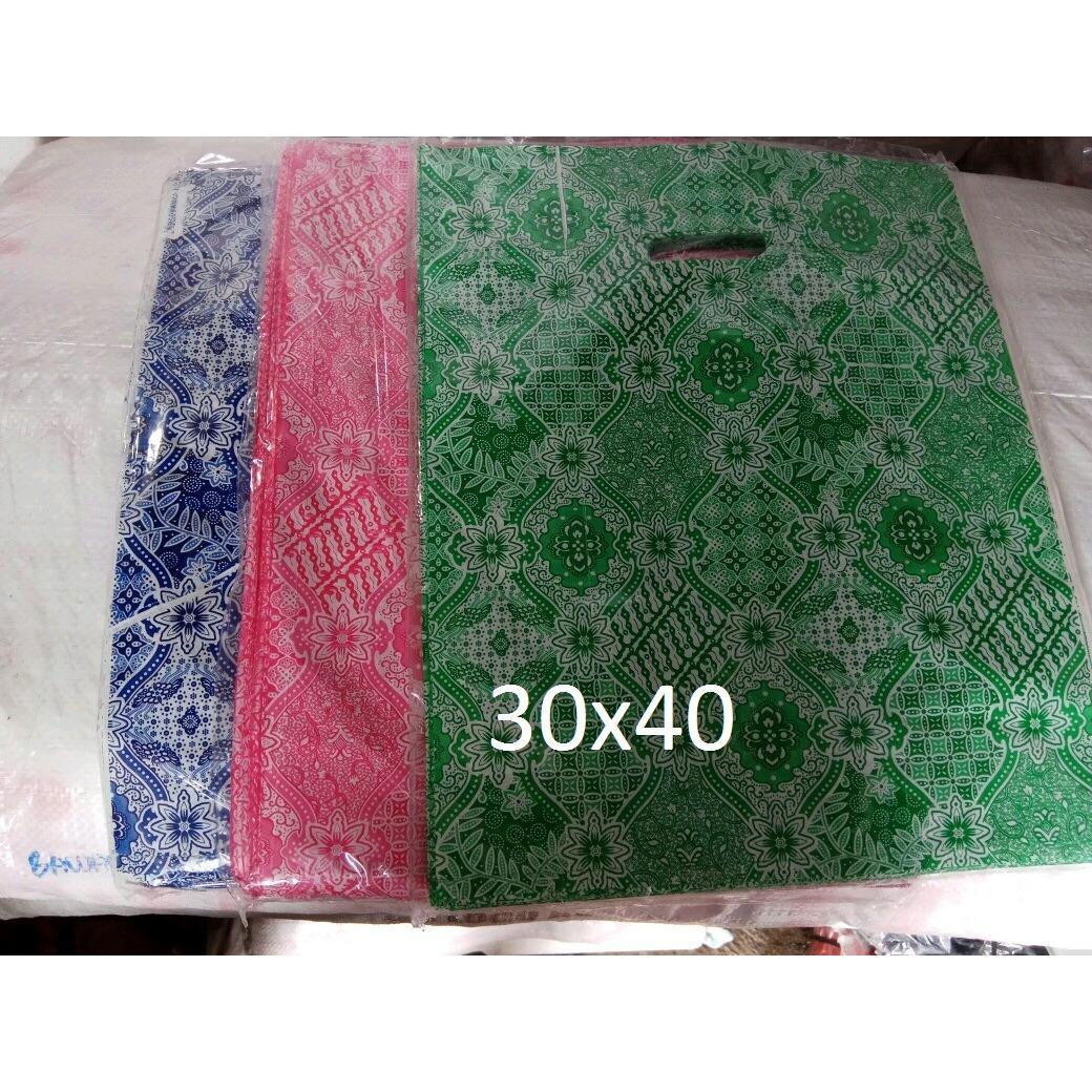 kantong Plastik Baju HD Oval Batik Uk. 30x40, Kantong belanja online shop