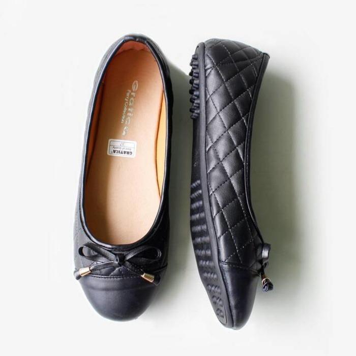 Gratica Sepatu Flat Shoes Al19 Hitam - Daftar Update Harga Terbaru Indonesia