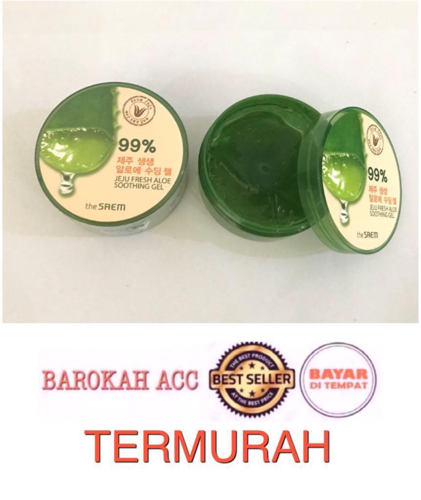 Detail Gambar The Saem Jeju Fresh Aloe Vera 99% Soothing Gel Korea - 300ml-BR Terbaru