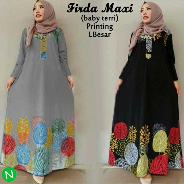FJCO Firda maxi / Maxy dress / Dress muslimah / Pakaian muslimah / Baju muslim /