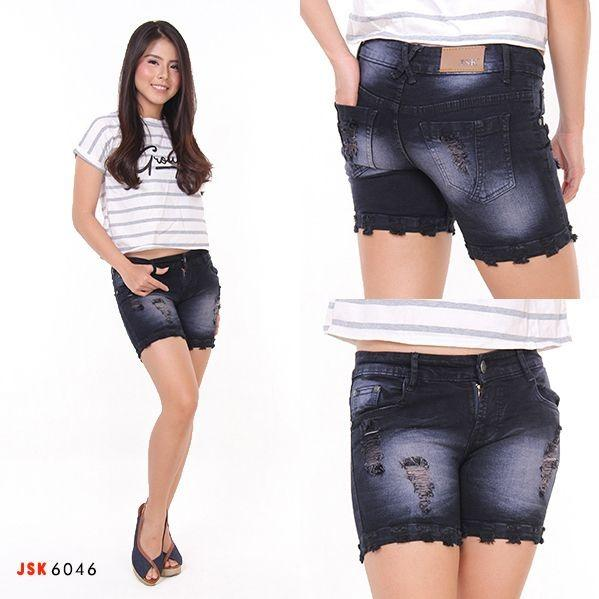 Review Ultimoshion Hotpants 2 3 Destroy Hitam Sprey Celana Pendek Jeans Wanita Di Indonesia