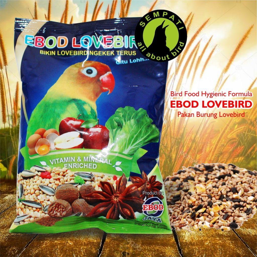 Pakan Burung Lovebird Kemasan Plastik Ekonomis Ebod Jaya